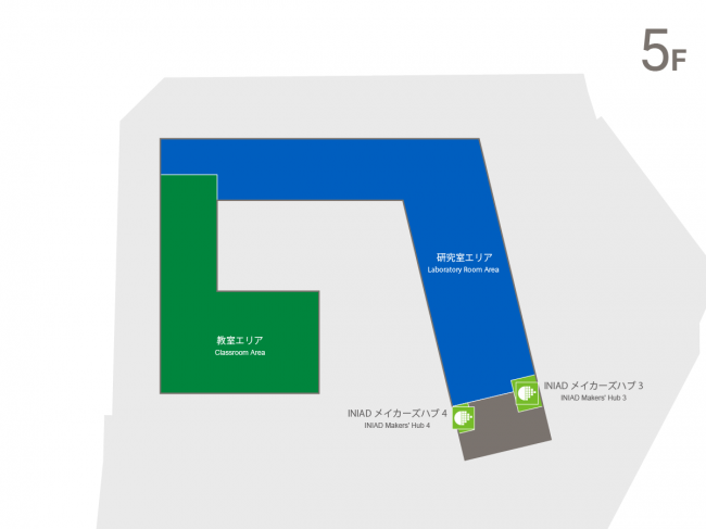 Akabanedai Campus Fifth Floor Map