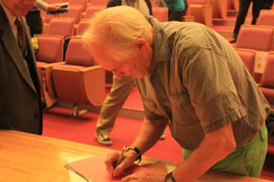 Sir Harry Kroto signing